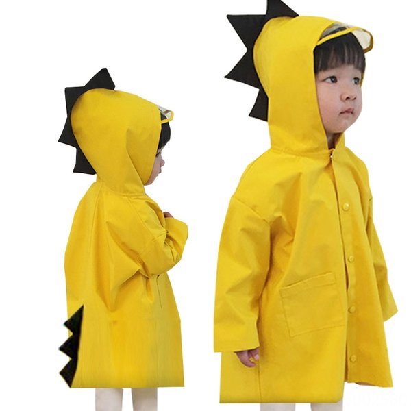 Giallo piccolo dinosauro Raincoat