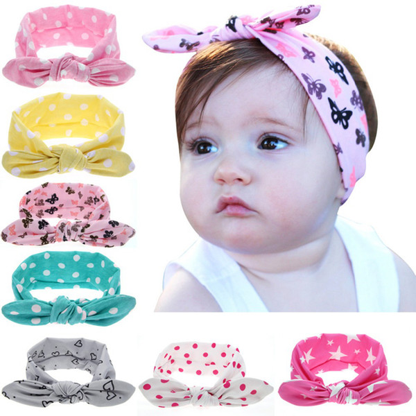 best selling Girl Baby Wave Point Cotton Turban Twist Unicorn Horn Headband Head Wrap Twisted Knot Soft Hair band Headbands Headwrap 8style RRA1987