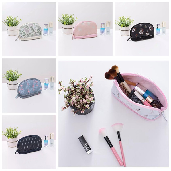 Cas Pour Les Cosmétiques Hommes Cactus Organisateur Pinceau Crayon Cas Flamingo Cosmetic Sac Voyage Portable Maquillage Sacs p