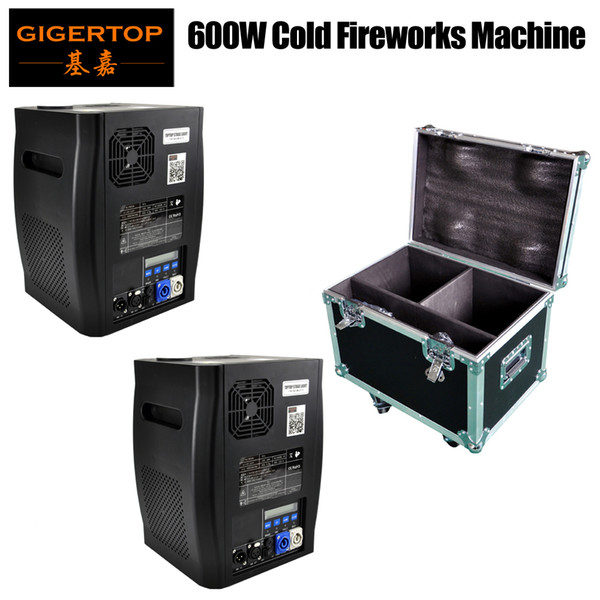 best selling Gigertop 600W Cold Fireworks Machine DMX Control High Power Sparcular Stage Effect Machine LED Display 2IN1 Flightcase Packing