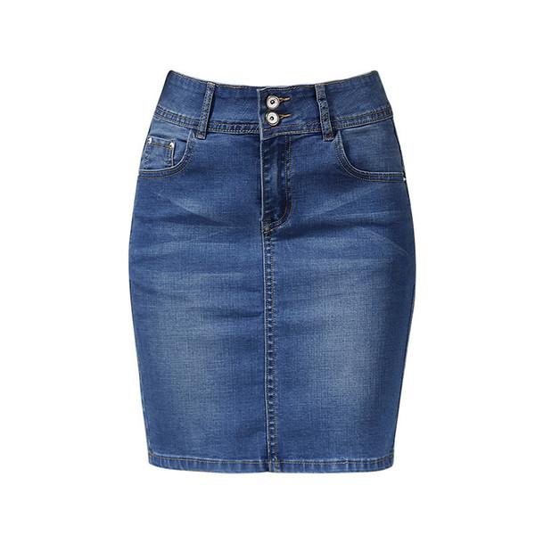 lo último 8c2f3 59411 Compre Para Mujer Faldas Cortas De Mezclilla Para Las Mujeres De Mezclilla  Mini Falda Para Mujer Más El Tamaño Faldas Womens Vendaje Jeans Falda Con  ...