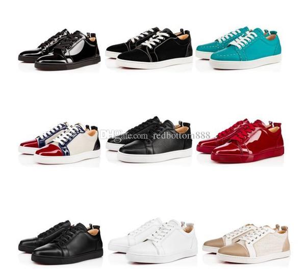 Parfait 14 Style de lowtop Casual Haute Qualité Red Sneakers Bottom Chaussures Hommes Femmes Loisirs en cuir sport classique Flats célèbre fête Weddin