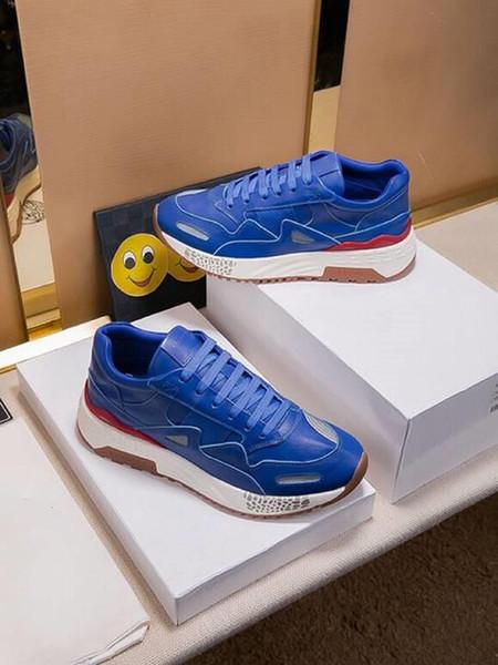 Migliori vendita explosiSon progettista esecuzione personalità sport fitness tendenza scarpe di cuoio di marca degli uomini di lusso maschile 38-44 yarde all'ingrosso libera