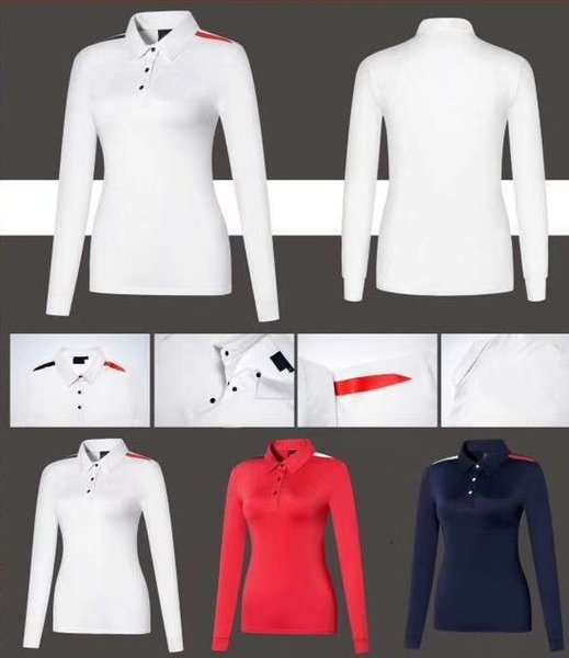 top popular 2019 OEM Ti golf T-shirt for women Spring Autumn long sleeve dry fast sports functional cloth smooth touch sport shirts 3 colors available 2019