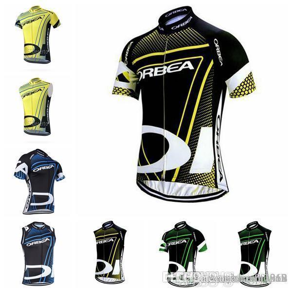 ORBEA team Cycling Kurze Ärmel / Ärmellose jersey Weste herren sommerbekleidung zyklus tragen straße sportbekleidung D2844