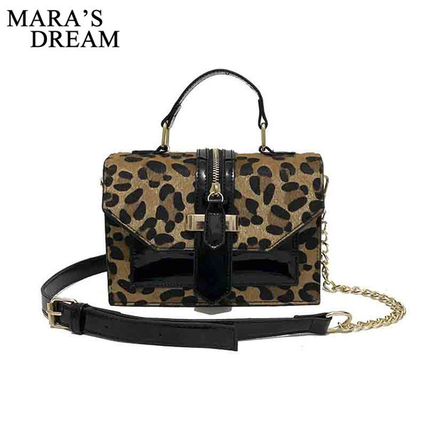 good quality Fashion Leopard Totes Handbag Small Flap Female 2019 New Woman's Handbags Famous Personality Shoulder Crossbody Bag