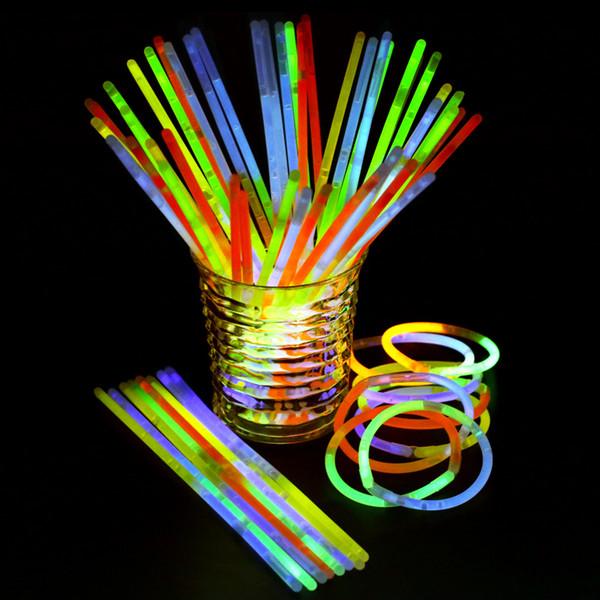 20cm Glow Stick Bracelet Colliers Multi Color Party Light Stick Baguette nouveauté jouet décor de scène de fête Concert colorés accessoires Flash FFA2075-2