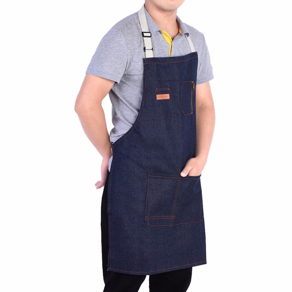 Durable Denim Cloth Apron for Home Cooking Gardening Baking Restaurant Waitress Uniform For Woman Man Chef Cooking Apron