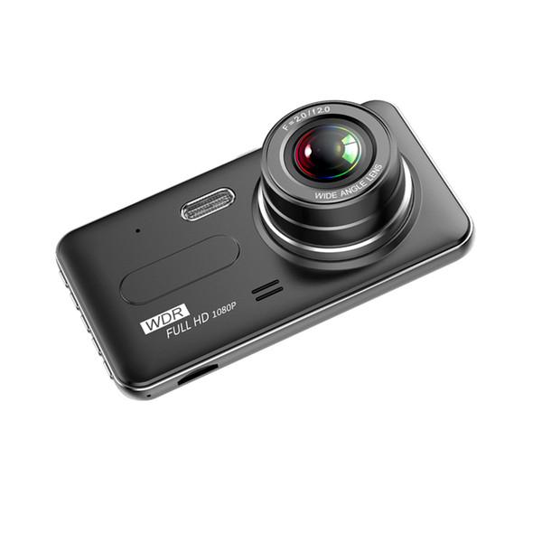 "4"" car DVR blackbox 2Ch driving recorder car video camera 170° wide view angle full HD 1080P night vision G-sensor loop recording"