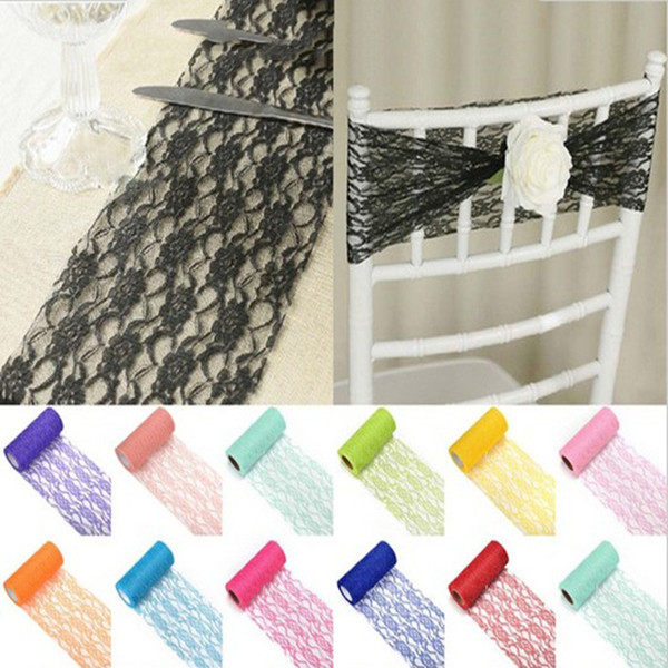 10 Yards/Roll Lace Ribbon Width 15CM DIY Table Runner Bow Chair Sash For Wedding Party Decoration Girl Tutu Skirt Accessories