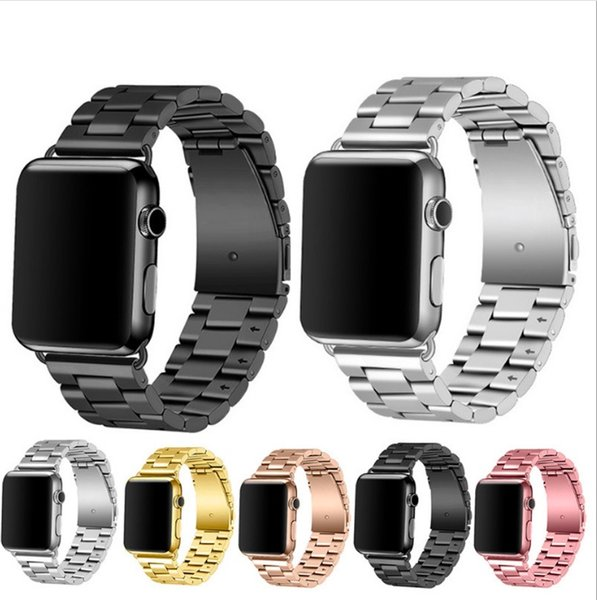 New arrived Stainless Steel Watchbands Wrist For Iwatch Apple Men Watch Band Strap Women Bracelet Accessories Sport 38mm 42mm With Adapter