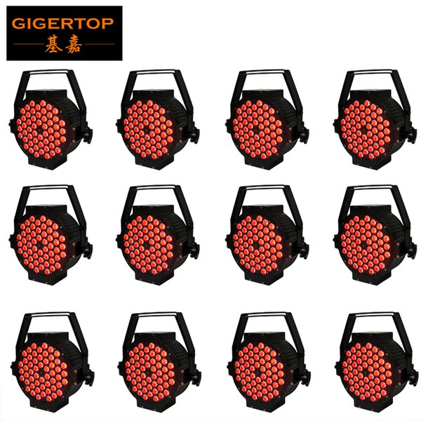 12pcs/lot 54x3w RGB 3IN1 color mixing no Waterproof LED Palm Light Evening Stage Performance Background Light DMX 512