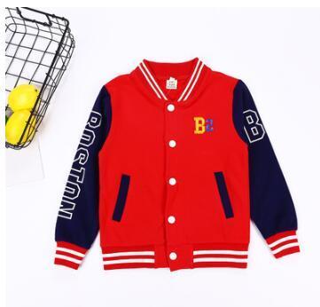 Nueva marca de ropa para niños chaqueta de béisbol de manga larga niño niño primavera otoño chaqueta a rayas envío gratis