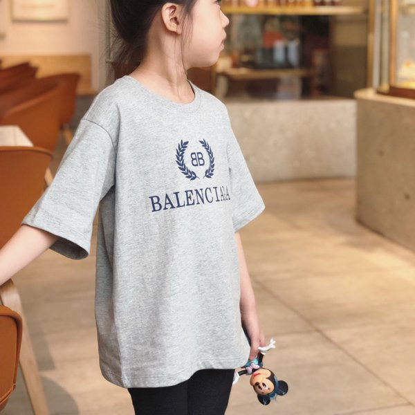 Kids Designer T Shirt Boys Luxury Letter BB Printed T-shirt Girls Fashion Pattern Top Tees for 2019 Summer Brand Kids Clothes 2PC