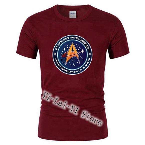 FreeShipping T-shirt Men's Star Trek Starfleet Academy Command Men Tshirts 100% Cotton Short Sleeve Family Tops Tee T shirt