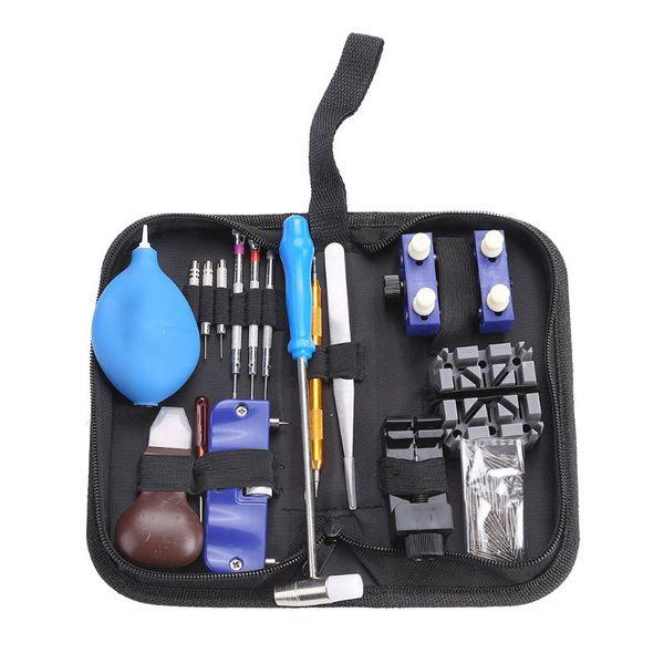 1 Set Watch Repair Tool Professional Kit Screwdriver Hammer Tweezers Opener Watchmaker Device Accessories Remover Storage Bag