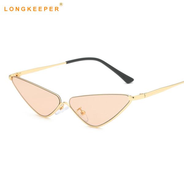 fa24e8e1d Retro cat eye sunglasses mulheres pequeno quadro triângulo óculos de sol  mulheres óculos uv400 oculos de