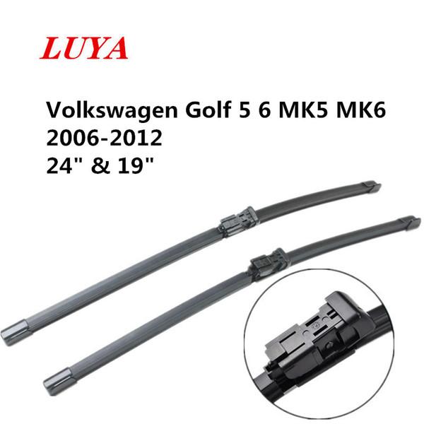 "LUYA wiper Blade in Car windshield wiper For Volkswagen Golf 5 6 MK5 MK6 2006-2012 size:24"" & 19"" car accessories styling"