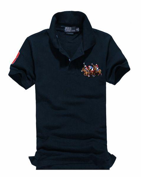 Herren Polo American Brand Ralph Design Herren Polo-Shirt aus Baumwolle mit doppelter Schnalle Mode Avantgarde Direkt ab Werk Größe S-3XL