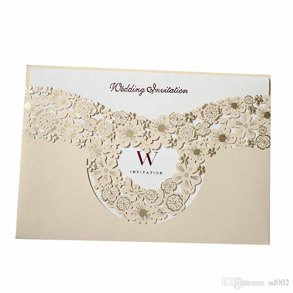 Marry Invitation Card Hollowing Out Greeting Cards Gold Wedding Decorate Supplies Creative Photo Special Cardboard Hot Sales 1 7qyc1 Greeting Card