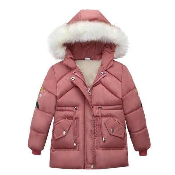 La niña de la chaqueta de la chaqueta 2019 otoño invierno para niñas cabritos de la capa caliente de la capa para las mu ropa de los niños con capucha Prendas de abrigo