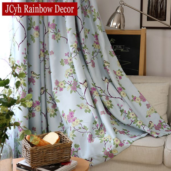Pasroral Printed Flower Curtains For Living Room Window Rideaux Drapes For Bedroom Treatments Blinds Panel Tende Cortinas
