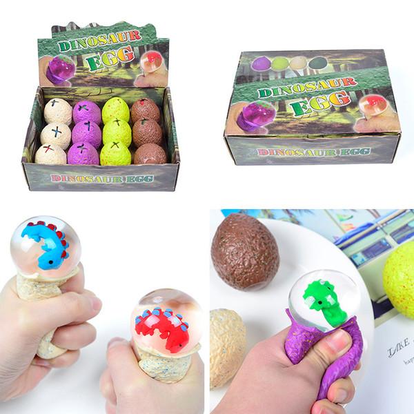 Spremere uova di dinosauro Baby Dragon Antistress Novità Gag Toys Divertimento Tricks Sfogo Sfere Anti Stress Soft Colorful Decompression Toy