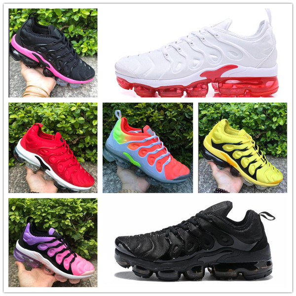 2019 TN Plus Women Running Shoes Triple Black White Sunset Photo Blue Wolf Grey USA Designer Shoes Girls Sport Sneakers Trainers 36-40