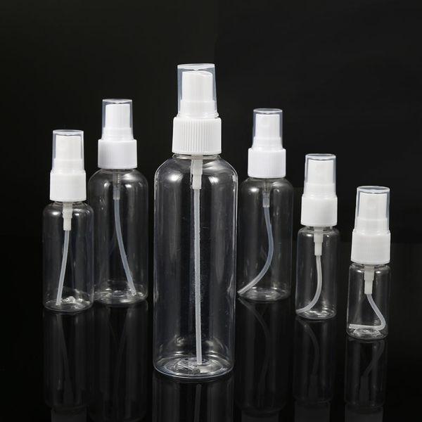 100pcs New Clear Plastic Perfume Atomizer Empty Spray Bottle Small Travel Portable Refillable Bottles 10/20/30/50/60/100ml
