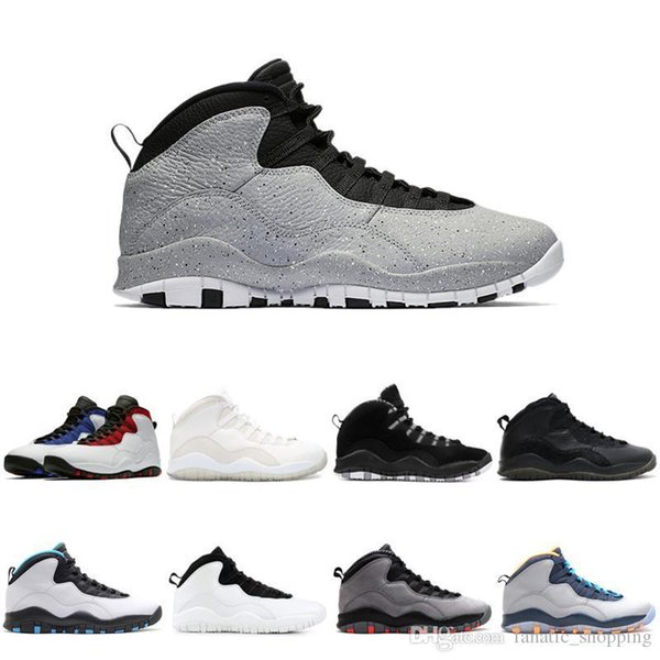 Cemento 10 Scarpe da basket 10s X Westbrook Stealth Grigio Venom Chicago Mens Trainer Sport Sneakers Drop Shipping