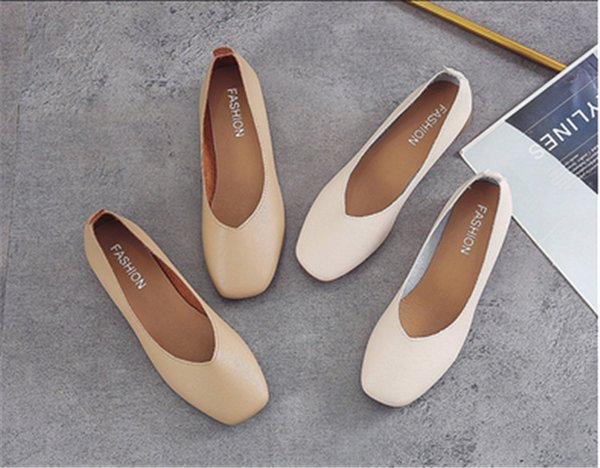 1953 hot selling womens fashion shoes newest style ladies flat shoes high quality leather soft soles shoes with box size35-41
