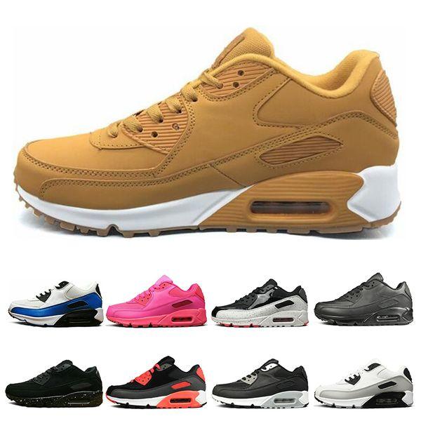 Nike Air Max 90 Hot Triple Blanco Negro Amarillo Para Hombre Para Mujer Zapatos Para Correr Gris Rosa Para Hombre Entrenadores Cojín Superficie