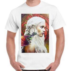 Игра престолов Khaleesi искусство плакат Битник прохладный ретро футболка 500