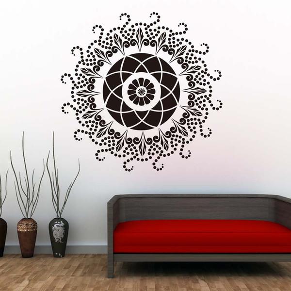 Mandalas Duvar Sticker Hint Desen Sanat Vinil Duvar Çıkartması Su Geçirmez Duvar Çıkartmaları Yapışkan Duvar Kağıdı Ev Dekor