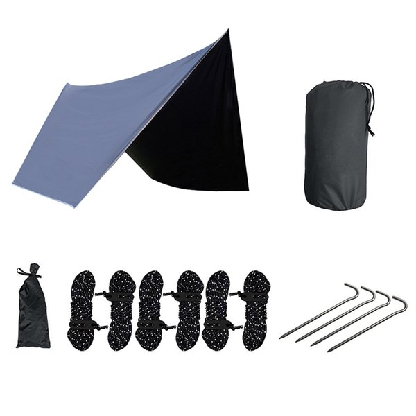 Ultralight Hammock Rain Fly Tent Outdoor Camping Canopy Waterproof Anti-Uv Sun Protection Beach Tent Hammock Sun Shelter Awnin