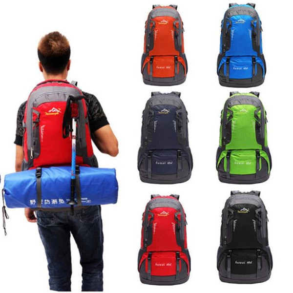 60L Outdoor Hiking Bag Camping Travel Waterproof Mountaineering Backpack Outdoor Cycling Bicycle Accessories Top Quality Jane 12 #331784