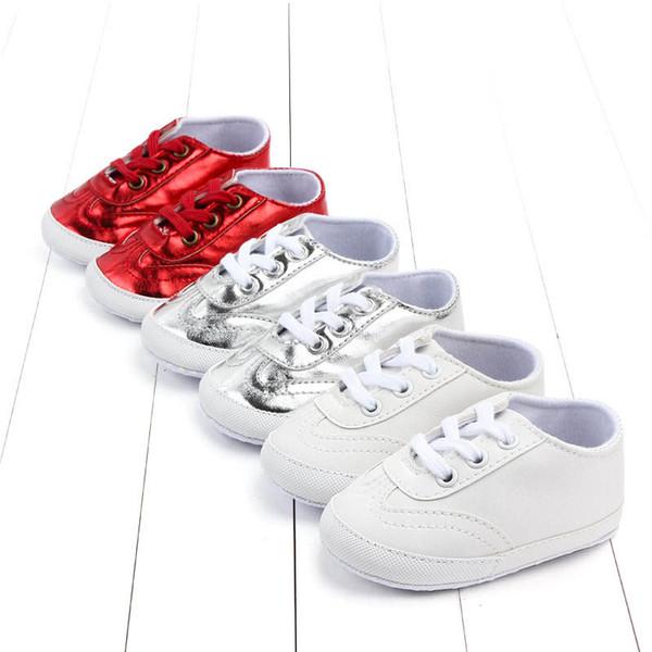 new product 151e1 d535b Großhandel Neue Baby Turnschuhe Baby Schuhe Kleinkind Schuhe Mokassins  Weiche Erste Wanderer Schuh Leder Infant Turnschuhe Designer Neugeborenen  ...