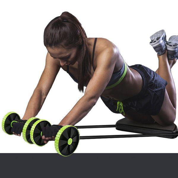 top popular Beginners AB Wheels Roller Men's and Women's Belly Roll Abdominal Machine Waist Abdominal Muscle Training Equipment 2021