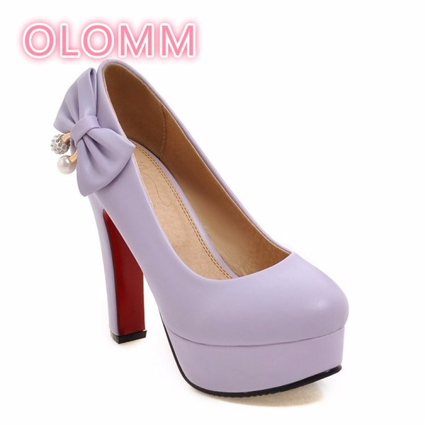 Butterfly high-heeled women's shoes waterproof platform comfortable low-heeled single shoe