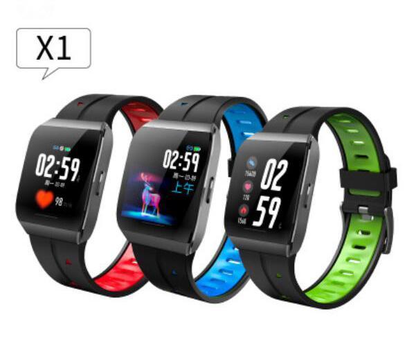 Neue X1 Smart Watch Farbdisplay IP68 Wasserdicht Herzfrequenz Blutdruckmessgerät Fernbedienung Kamera Armband Für Android IOS 5 stücke DHL