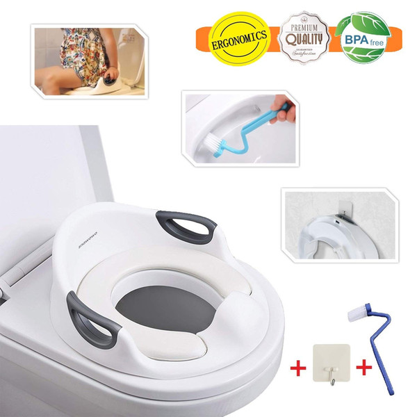 Splash Guard For Toilet Seat.2019 Potty Training Toilet Seat Cover For Kids Toddlers Boys Girls With Urine Splash Guard Non Slip Rubber Grip Cushion Handle Backrest Fit From
