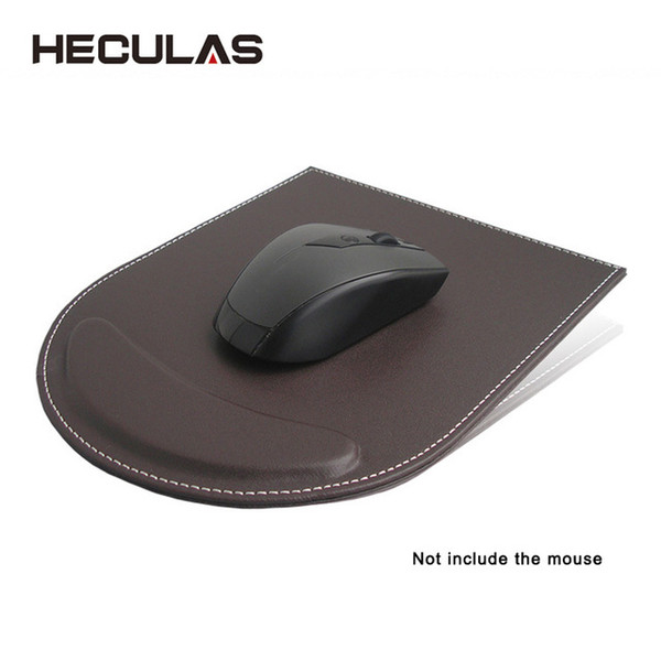 HECULAS Mouse Pad Artificial Leather Wrist Rest Office Mousepad for Business Home Desk Mouse Use Pad