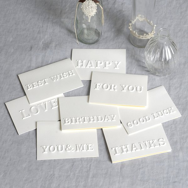 2019 Embossed Greeting Card Best Wishes Happy Birthday Blessing Message Card Event Party Invitation Letter Greeting Cards From Newcute 32 4