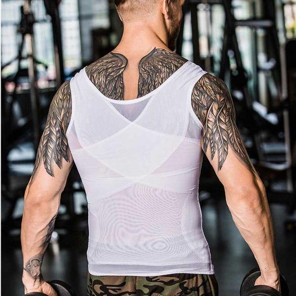 Men Shapers Ultra Sweat Thermal Muscle Shirt Neoprene Belly Slim Sheath Female Corset Abdomen Belt Shapewear Zip Tops Vest NY027