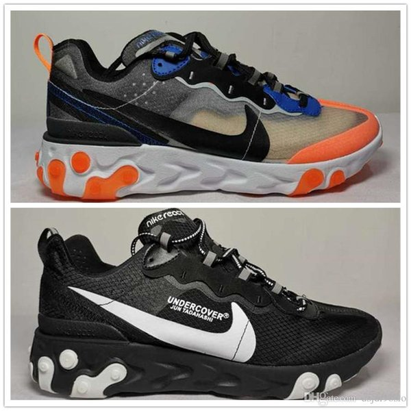 019 reagir elemento 87 55 tênis para mulheres dos homens antracite luz osso triplo preto branco vermelho ORBIT moda mens formadores sports sneaker