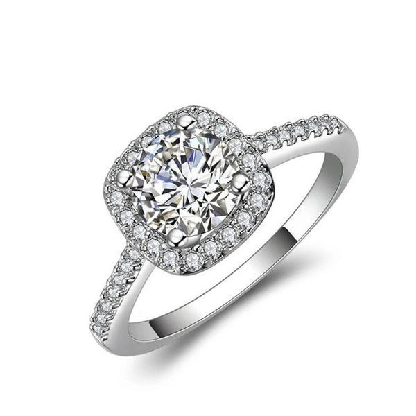 Dropshipping фианитами Кольца для женщин Свадьба Обручальное Promise Заявление кольца мода ювелирные изделия 2019