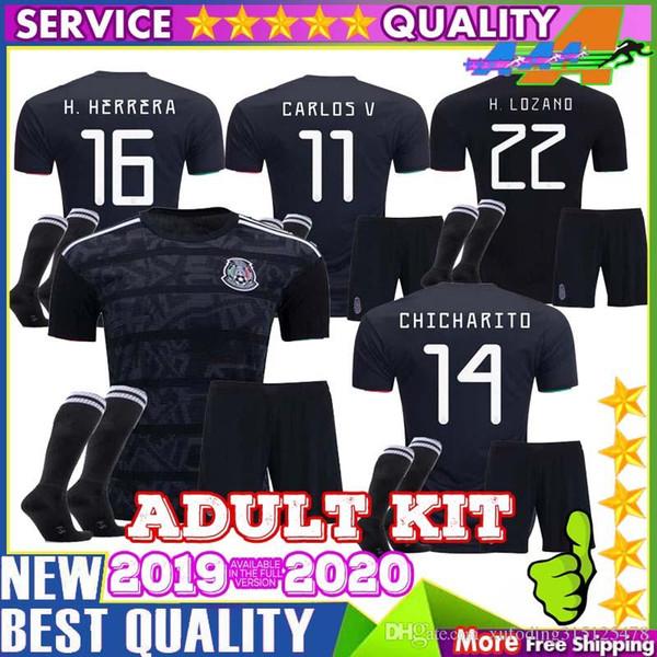 ecfb7e64a5d Custom DIY 2019 Mexico soccer jersey Men Gold Cup 19 20 Camisetas CHICHARITO  H.LOZANO