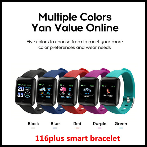116plus Smart Bracelet Band step sleep monitoring IP67 waterproof USB direct charge heart rate fitness tracker Bluetooth smart watch