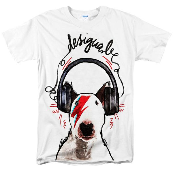 Zombie panda 2018 Mens tshirt Inglês Bull Terrier T Camisa de Manga Curta Tops Legal Tee Masculino