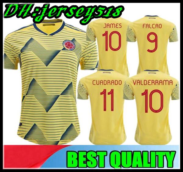 2019 콜롬비아 축구 유니폼 JAMES FALCAO 경찰 아메리카 콜롬비아 축구 셔츠로드 리 게스 카미 세타 드 푸 아투 CUADRADO maillot de foot